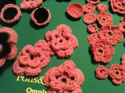 Crochet Flowers and Projects Part 1