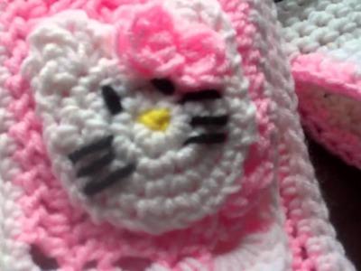 Crochet Hello kitty beanie and Scarf F.O.T.H.
