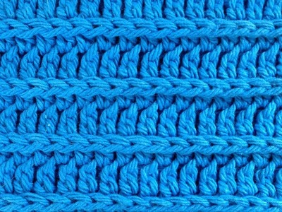 Crochet Royal Ridge Stitches - Free Dishcloth Pattern