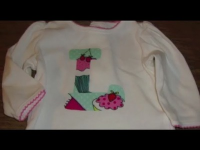 DIY Appliqué Shirt.Gift: 12 Days of Crafting