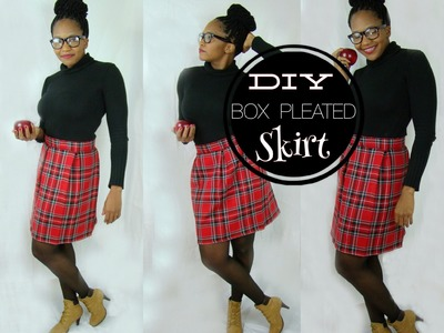 DIY Box Pleat Skirt ( Includes the Math)