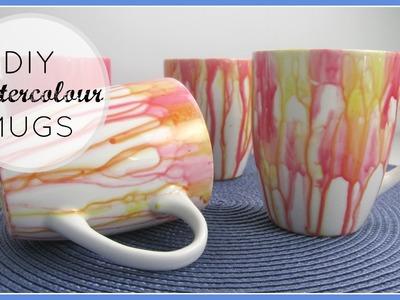 {DIY Decor. Gifts} Watercolour Mugs