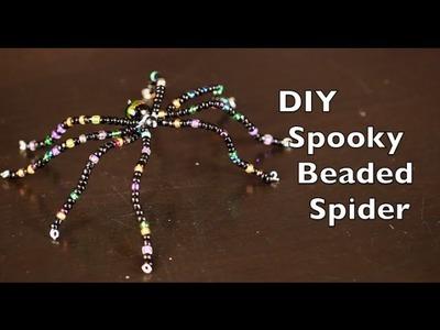 DIY Halloween Decorations | Spooky Beaded Spider Tutorial