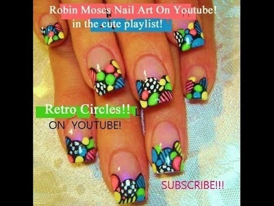 DIY Nail Art - Retro Circle Nails Design Tutorial