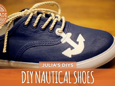 DIY Nautical Shoes - White Shoes Challenge Week - HGTV Handmade