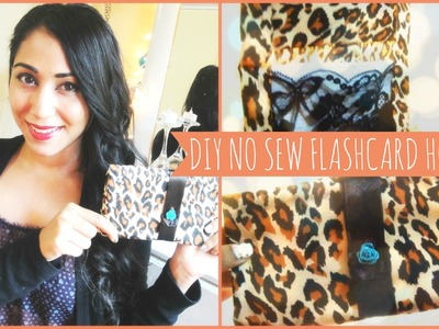 ♥ DIY No Sew Flash Card Holder ♥
