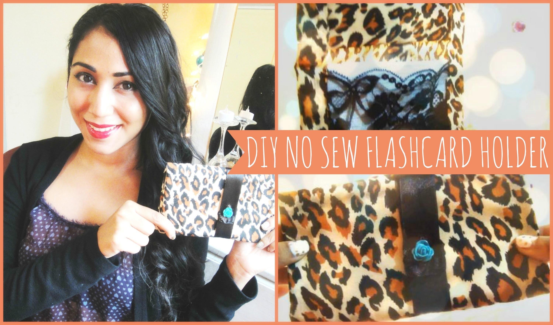 ♥ DIY No Sew Flash Card Holder ♥