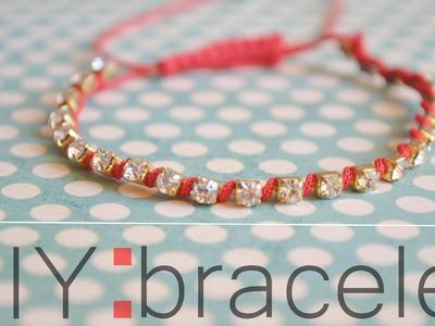 DIY : rhinestone bracelet