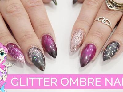 DIY Tutorial Glitter Ombré Nails