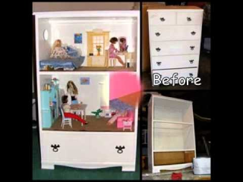 Easy DIY barbie house projects ideas