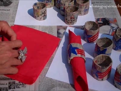 Easy Paper Mache 4th of July Craft 4 YOU