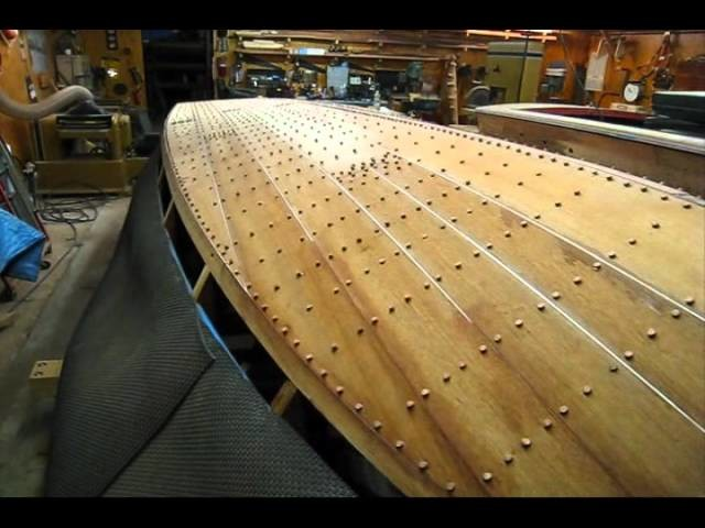 Fairing and Finish Sanding New Bottom on Chris Craft (Preview)