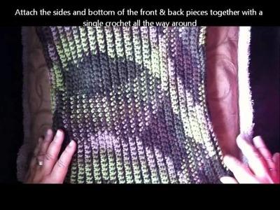 Felted Crochet Backpack - Great for men :)