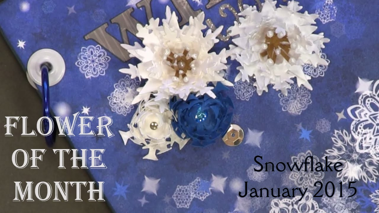 Flower of the Month - DIY Paper Flowers January 2015 Snowflake   An Inkin' Stampede
