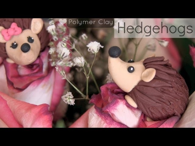 Hedgehog - Polymer Clay Charm - How To