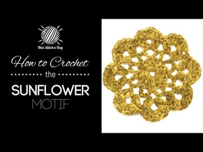 How to Crochet the Sunflower Motif