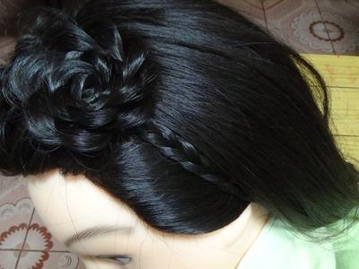 How to: Cute Flower Crown Braid Hair - Hairstyles Tutorial