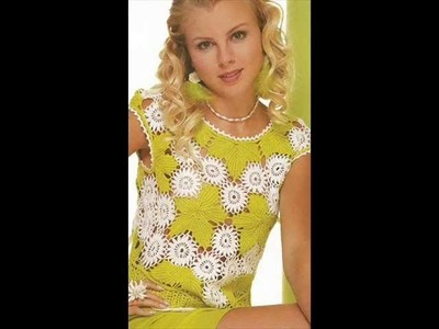 How to irish crochet summer top free pattern