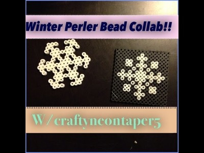 How To Make 2 Perler Bead Snowflakes~Holiday Perler Beads Collab w. craftyneontaper5!