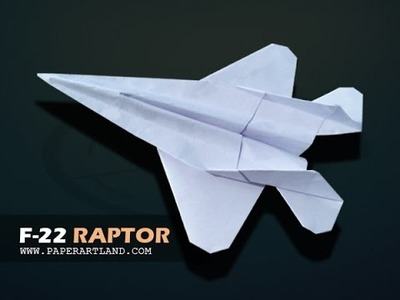 How to make a COOL paper plane that flies FAR | F-22 Raptor