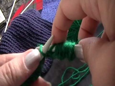 Knitting for beginners-2.First row.