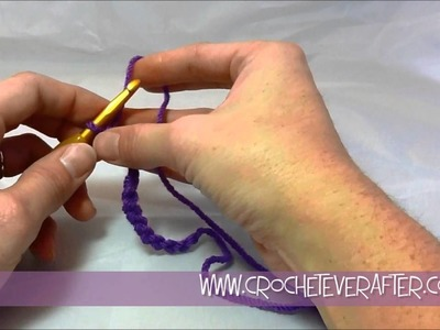 Left Hand Single Crochet Tutorial #2: SC Into Foundation Chain