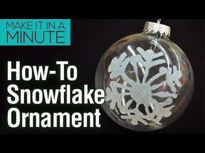 Make It In A Minute: Glitter Snowflake Ornament DIY