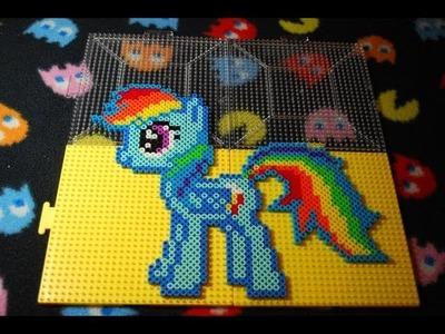 ~ MLP: Rainbow Dash ~ Perler Bead Stop Motion ~