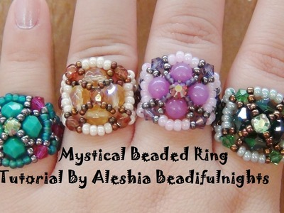 Mystical Beaded Ring Tutorial