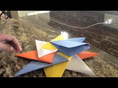 Origami 8-pointed star(Modular) tutorial