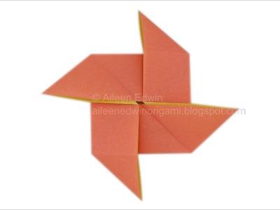 Origami Pinwheel Base Video Tutorial *HD*