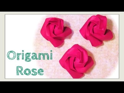 Origami Rose - DIY How to Fold Origami Rose - Paper Rose - Easier Kawasaki Rose - Paper Crafts