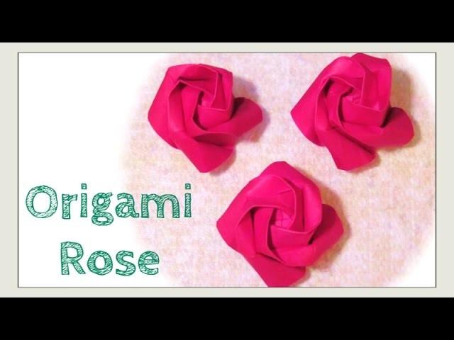 Origami Rose - DIY How to Fold Origami Rose - Paper Rose - Easier Kawasaki Rose - Paper Crafts