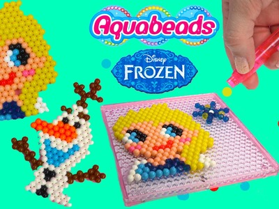 Queen Elsa Olaf Snowman Disney Frozen Water Beados like Aqua Beads Fun Simple Craft Playset