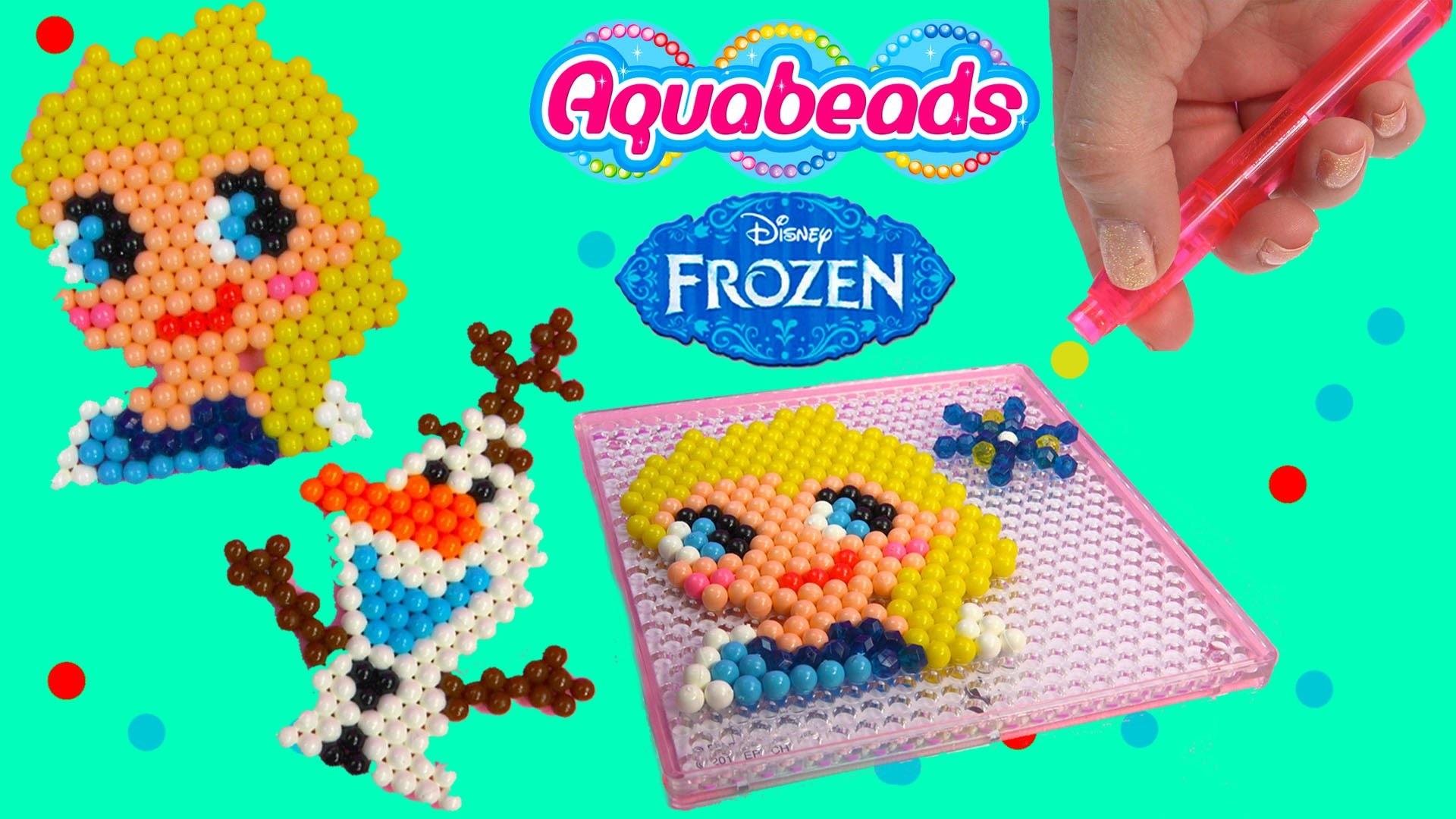 Queen Elsa Olaf Snowman Disney Frozen Water Beados like Aqua Beads Fun Simple Craft Playset