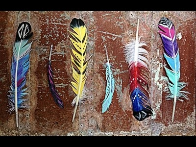 Quick and Easy DIY: Painted Feathers