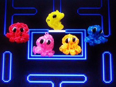 Rainbow Loom GHOST (Pac-man) Charm: How To Tutorial (DIY Mommy)