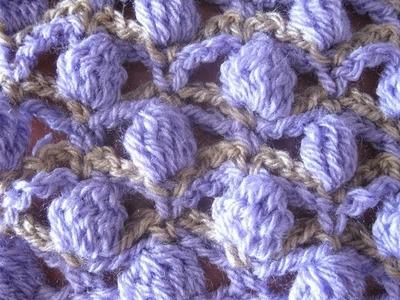 Shadow Tracery Stitch - Left Handed Crochet Stitch tutorial