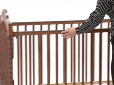 Stork Craft Instructional Video drop-side crib conversion to fixed side