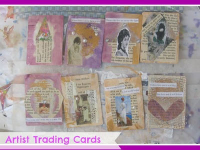 Vintage Ladies ATC'S Cards. DIY Artist Trading Cards.How to make Artist Trading Cards for Beginners