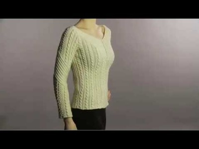 #14 Cabled V-Neck Pullover, Vogue Knitting Winter 2008.09