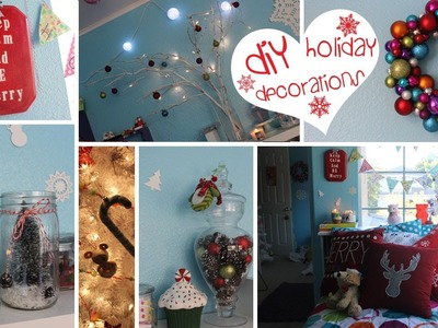 ❄7 DIY Holiday Decorations- Easy, Fun & Affordable!❄ (Craftmas)