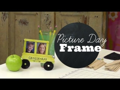 Back to School Craft for Kids: School Bus Picture Frames