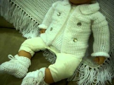 Baptism Clothes for Baby Boy - CROCHET BABY BOY LAYETTE