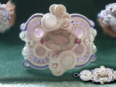 "Beading4perfectionists : ""Double Horseshoe stitch""  Soutache part 5 beading tutorial"