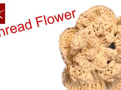 Crochet Flower Hair Clip - Learn How To Crochet Geek