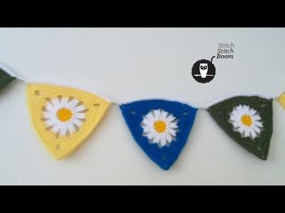 Crochet Tutorial: Spring Daisy Bunting