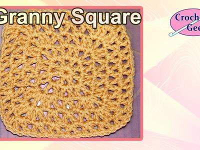 Crochet V-Stitch Granny Square Crochet Geek