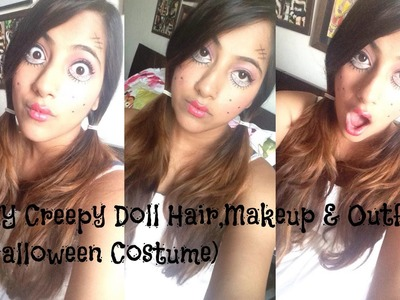 DIY Creepy Doll Hair, Makeup and Outfit! (Halloween Costume)