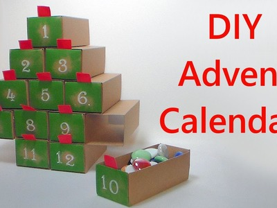 DIY Easy 12 Day Advent Calender with Big Drawers!